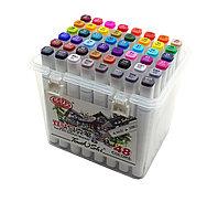 Набор маркеры профессиональные для скетчинга / рисования фломастеры 48 цветов двусторонние