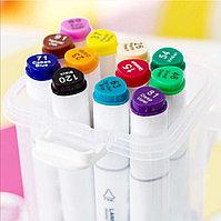 Набор маркеры профессиональные для скетчинга / рисования фломастеры 12 цветов двусторонние