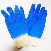 Перчатки  рыбацкие синие короткие.