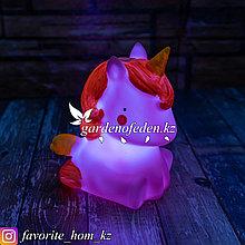 Настольный мини-светильник. Материал: Пластик. Цвет: Розовый. Тип питания: Батарейки.