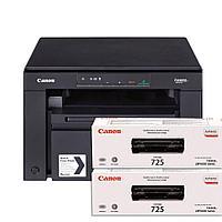 МФУ Canon i-SENSYS MF3010 PRINT/COPY/SCAN (Картридж 725) + 2 оригинальных картриджа 5252В004АА