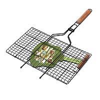 Решетка-гриль+вилка с антипригарным покрытием + вилка (Green Way) ( 360*265мм)