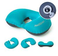 Надувная подушка Naturehike TPU Neck Pillow New Nozzle with Button Style NH17T013-U (571891=Peacock Blue)