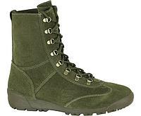 """Ботинки """"КОБРА"""" (велюр, оливковый, подошва каучук BUTEK 1)"""
