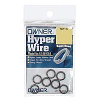 Заводные кольца Owner Hyper Wire Split Rings 5196 (5196-094-GR=9, 6pcs, 77kg)