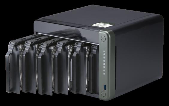 "QNAP TS-653D-8G Сетевой RAID-накопитель, 6 отсеков 3,5""/2,5"", 2 порта 2,5 GbE BASE-T, HDMI-порт. Intel Celeron"