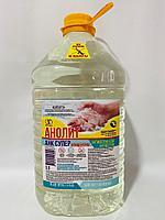 Дезинфицирующее средство. Анолит (концентрат) 5 литров, 1/3. Антисептик для рук и кожи. Средство гигиены.