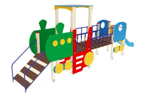 Детский игровой комплекс «Паровозик» H=750