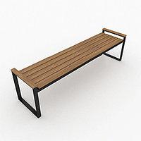 Скамейка для парка с подставками