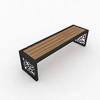 Скамейка с узорами