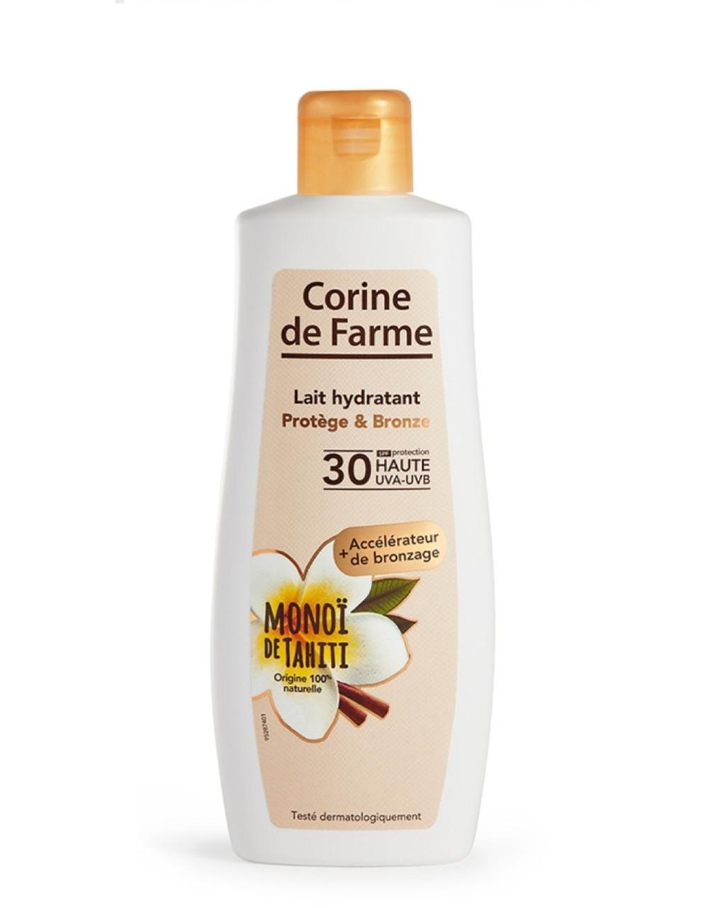 Лосьон увлажняющий Защита и загар Corine de Farm SPF 30, 150 ml