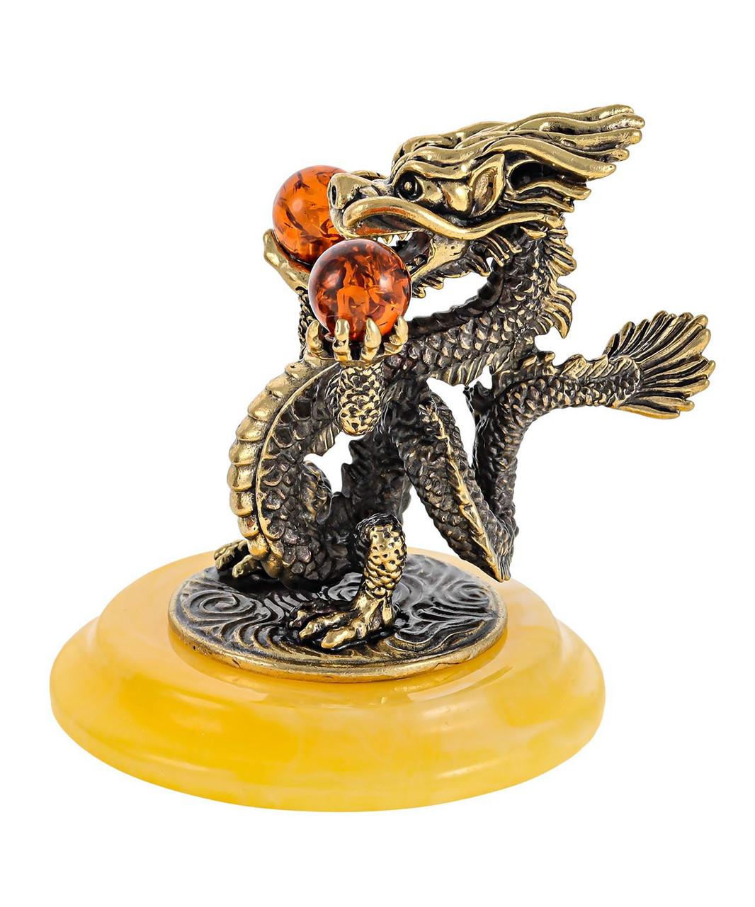 Сувенир Дракон золотой. Ручная работа