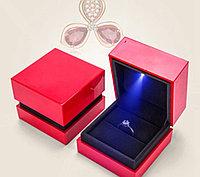 Ювелирная коробочка премиум класса с Led подсветкой. Белый