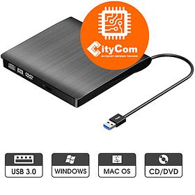 Внешний DVD привод, считыватель оптических дисков. USB DVD-RW. Арт.1307