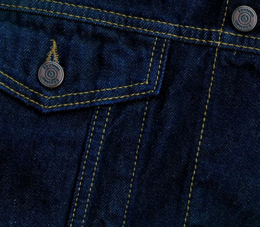 """Джинсовая мужская куртка """"Koutons"""" (размеры 3XL/54) - фото 4"""