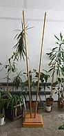 Флагшток напольный дерево, двойной, с переходником для пласт.наконечника