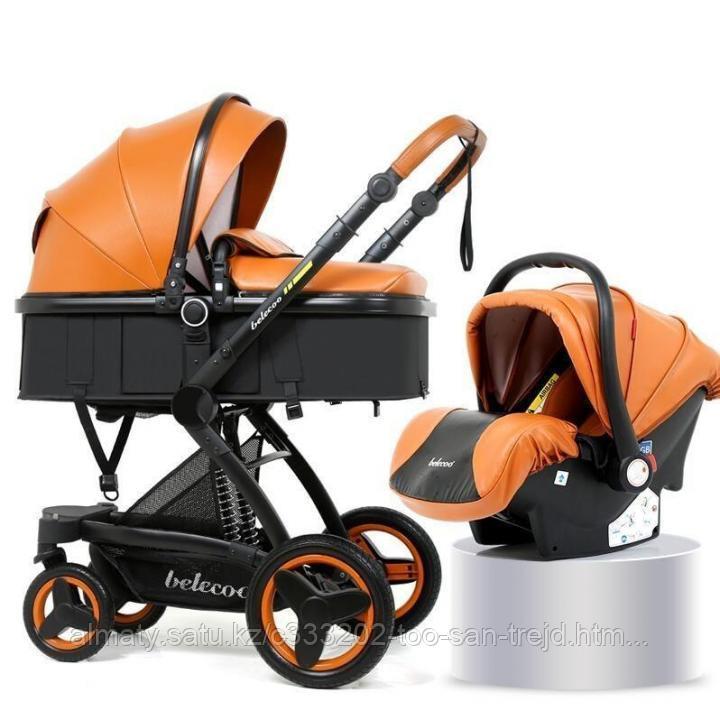 Детская коляска - трансформер Belecoo 3 в 1+ автолюлька