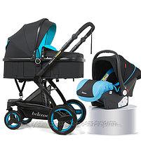 Детская коляска - трансформер Belecoo 3 в 1+ автолюлька, фото 2