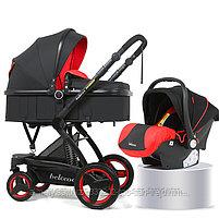 Детская коляска - трансформер Belecoo 3 в 1+ автолюлька, фото 3