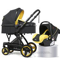 Детская коляска - трансформер Belecoo 3 в 1+ автолюлька, фото 4