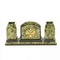 Письменный набор с гербом Российской Федерации камень змеевик