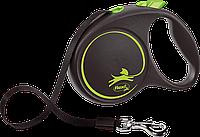 Рулетка-поводок для собак Flexi BLACK DESIGN, лента, L: 5 m, green
