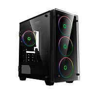 ПК корпус GameMax Mini Stratos H609 MiniTower, window, Black mATX (Mini Stratos H609)