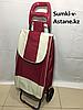 Хозяйственная сумка-тележка для продуктов на 2-х колесах.Высота 97 см, ширина 34 см, глубина 24 см.