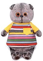 Басик в полосатой футболке с карманом 19 см, фото 1