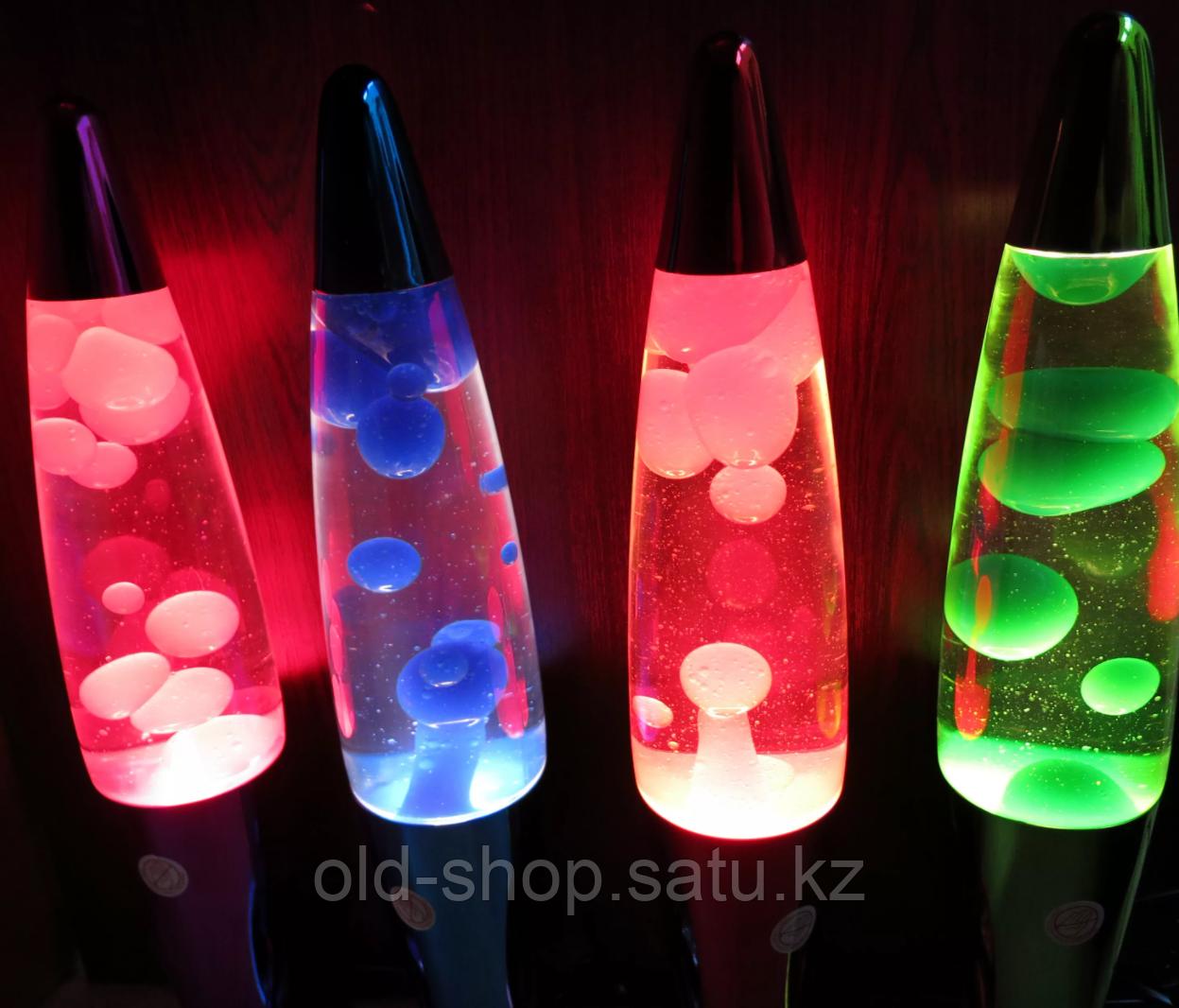 Лава лампа с воском в цветном корпусе 35 см - фото 3