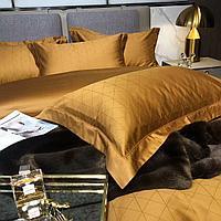 Комплект постельного белья двуспальный Vip Cotton с крупным принтом сатиновых треугольников