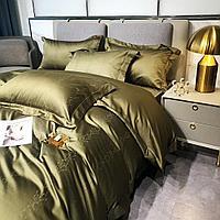 Комплект постельного белья двуспальный Vip Cotton с принтом сатиновых веточек
