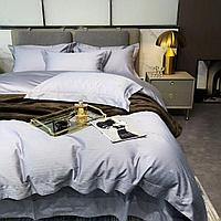 Комплект постельного белья двуспальный Vip Cotton с мелкими геометрическими треугольниками.