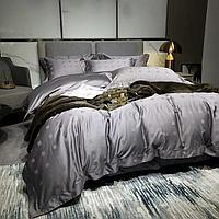Комплект постельного белья двуспальный Vip Cotton с принтом мелких квадратов