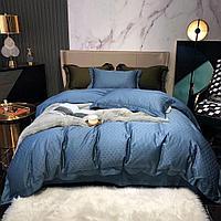 Комплект постельного белья двуспальный из сатина с принтом мелких треугольников