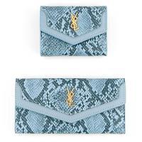 Кошелек женский под кожу питона Y8L Ming You 7168/7169 (Голубой / Двойного сложения)