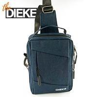 Рюкзак-сумка однолямочный с портом USB для зарядки устройств Dieke Compact #1262 (Синий)