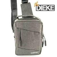 Рюкзак-сумка однолямочный с портом USB для зарядки устройств Dieke Compact #1262 (Серый)