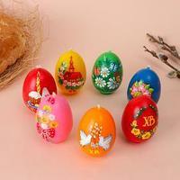 Свеча 'Пасхальное яйцо с росписью', 4,1 х 6,5 см, 48 грамм, микс