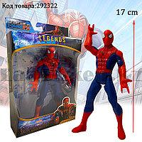 Детская фигурка Человека паука Spider man с подвижными ногами и руками с светоэффектом 17 см
