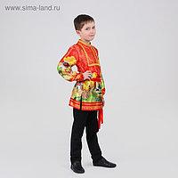 Русская рубаха для мальчика «Русские сказки», р. 34 рост 134-140 см