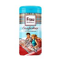 Салфетки Frau сухие, автомобильные (100% целлюлоза), туба 50 листов