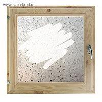 """Окно 60х60 см, """"Капли на стекле"""", однокамерный стеклопакет, хвоя"""