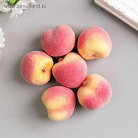 Набор декоративных персиков 5 см, 6 шт, розовый