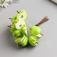 """Набор декоративных букетиков """"Яблоки половинки"""" 12 шт, зелёный"""