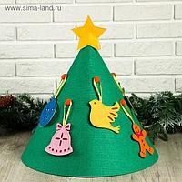 Декоративная ёлка напольная, 8 игрушек прошитых, 45×45 см
