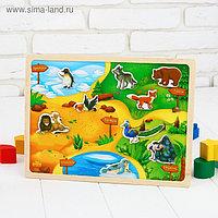Магнитный конструктор-планшет «Зоопарк»