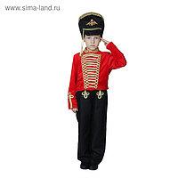 Карнавальный костюм «Гусар», китель, кивер, штаны, р. 34, рост 134 см