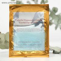 Гидрогелевая маска для лица Collagen Crystal «Коллаген и бриллиантовая пудра», антивозрастная, голубая, 60 г