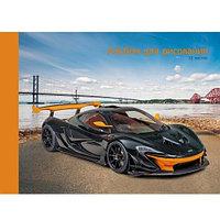 Альбом для рисов. 20л А4 на склейке -Спортивный автомобиль- Эксмо 2001